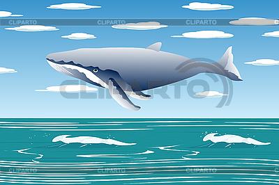 Fliegender Wal | Stock Vektorgrafik |ID 3006236