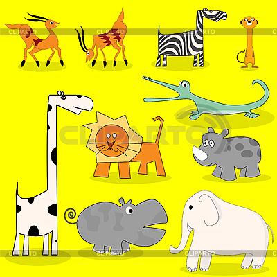 아프리카 야생 동물   벡터 클립 아트  ID 3010512
