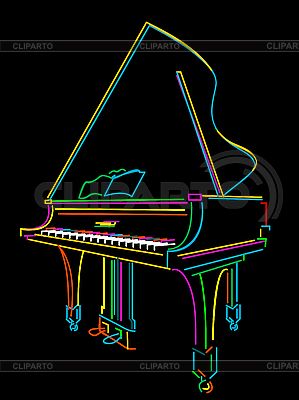 Grand piano | Stock Vector Graphics |ID 3010731