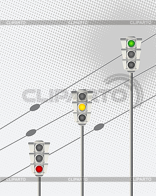 Ampeln   Stock Vektorgrafik  ID 3010750