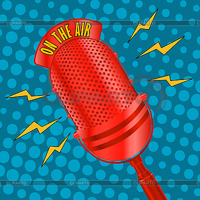 Pop art microphone | Stock Vector Graphics |ID 3011148