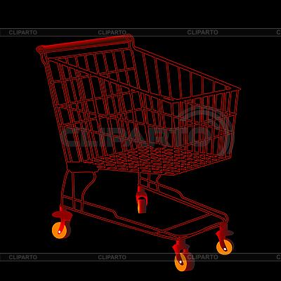 Roter Einkaufswagen | Stock Vektorgrafik |ID 3011150