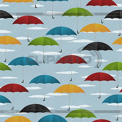 Nahtloses Muster mit Regenschirmen | Stock Vektorgrafik |ID 3016481