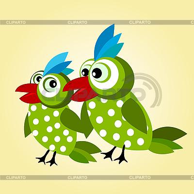 Liebesvögel-Hintergrund | Stock Vektorgrafik |ID 3016639