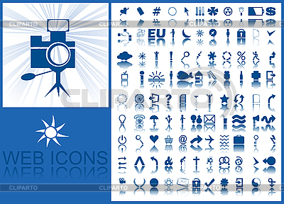 Blue icons | Stock Vector Graphics |ID 3017923