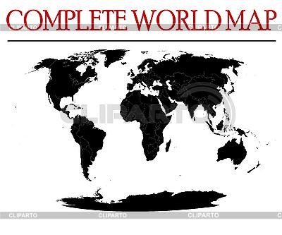 Pełna mapa świata | Klipart wektorowy |ID 3017927