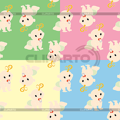 Pattern with babies   Stock Vector Graphics  ID 3018008