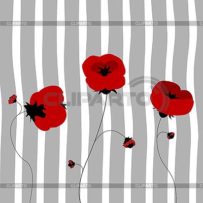 Poppy card   Stock Vector Graphics  ID 3018018