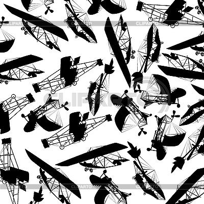 Flugzeuge-Muster   Stock Vektorgrafik  ID 3018058