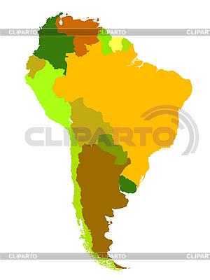 Südamerika, Lankarte | Stock Vektorgrafik |ID 3018074