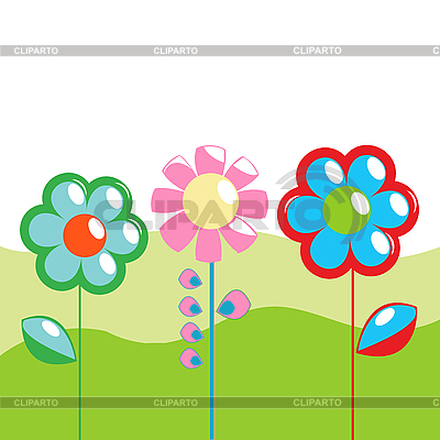 Wiosna życzeniami | Klipart wektorowy |ID 3018076