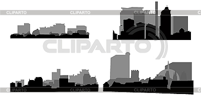 Architektur-Silhouetten | Stock Vektorgrafik |ID 3018248