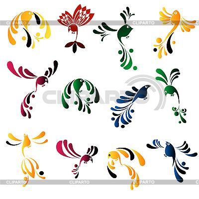 Elegant bird icons | Stock Vector Graphics |ID 3018333