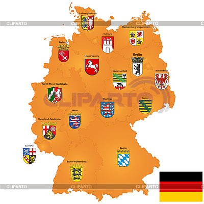 Map of Germany | Stock Vector Graphics |ID 3018335