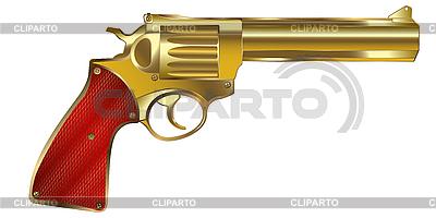 Złoty pistolet | Klipart wektorowy |ID 3018377