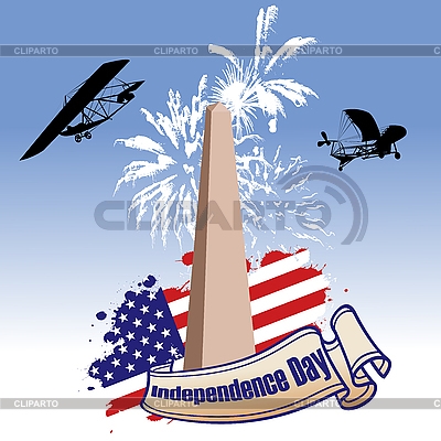 Independence day illustrated | Stock Vector Graphics |ID 3018403