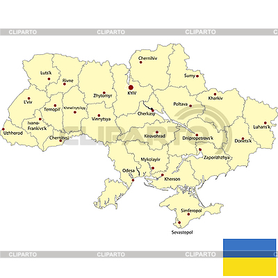 Karte von Ukraine | Stock Vektorgrafik |ID 3018427