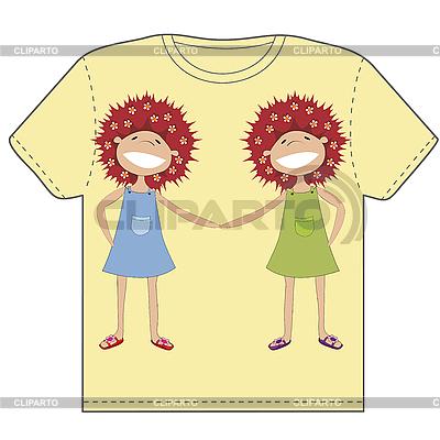 Twin siostry | Klipart wektorowy |ID 3018520