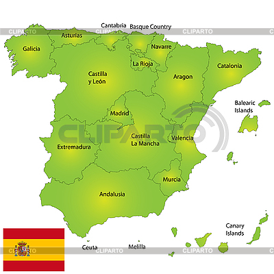 Spain map | High resolution stock illustration |ID 3018528