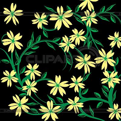 黑花的背景 | 向量插图 |ID 3025142