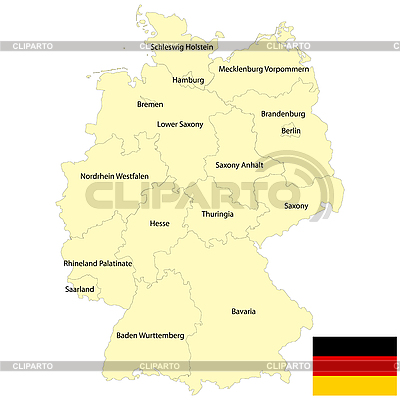 Germany map | Stock Vector Graphics |ID 3025219