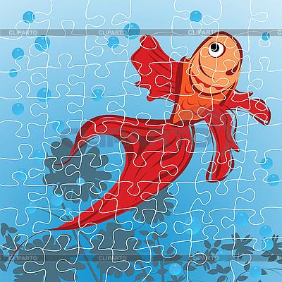 Red puzzle ryby | Klipart wektorowy |ID 3025240