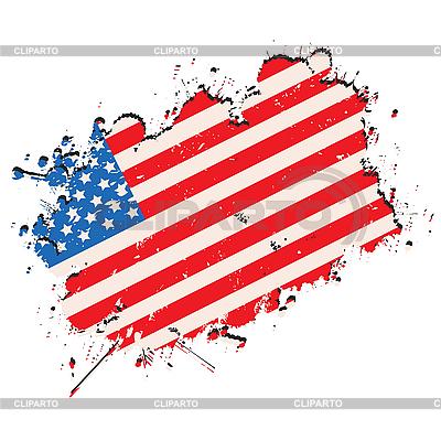 Grunge USA flag | Stock Vector Graphics |ID 3025283