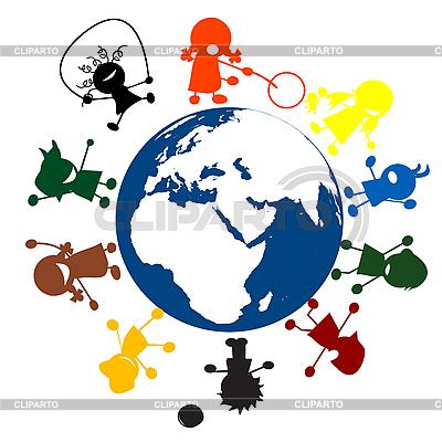 Kids around the world | Stock Vector Graphics |ID 3025303