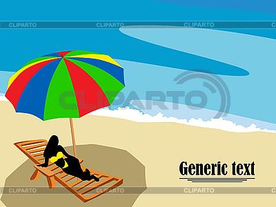 Salon na plaży   Klipart wektorowy  ID 3025328