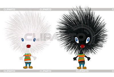 Stylized hedgehogs | Stock Vector Graphics |ID 3025439