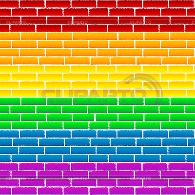 彩虹墙 | 向量插图 |ID 3025506