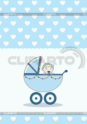 Girl in stroller | Stock Vector Graphics |ID 3032100