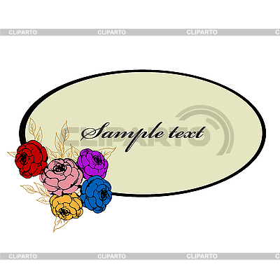 Decorative oval flower frame | Stock Vector Graphics |ID 3032150
