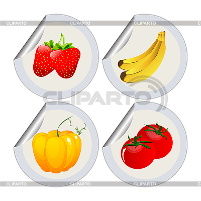 Owoce i warzywa | Klipart wektorowy |ID 3032188