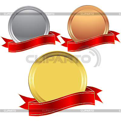 Metal seals and banner | High resolution stock illustration |ID 3032196