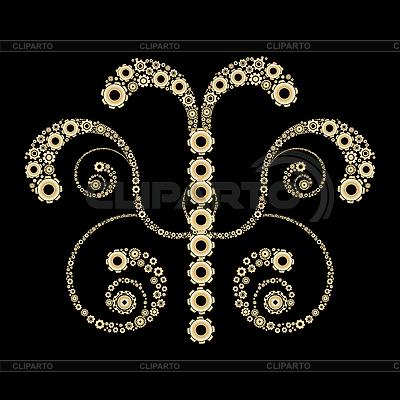 Golden gears design | Stock Vector Graphics |ID 3032197