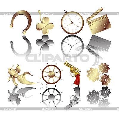 Goldene Embleme mit Reflexion | Stock Vektorgrafik |ID 3032199