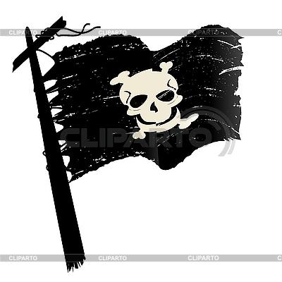 Grunge pirate flag | Klipart wektorowy |ID 3032209