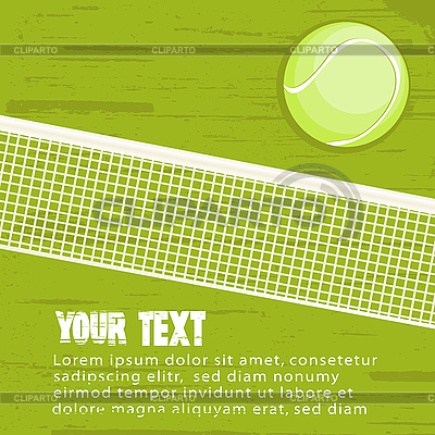 Grunge tennis background | Stock Vector Graphics |ID 3032211