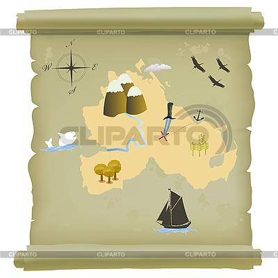 Treasure island map | Klipart wektorowy |ID 3032379