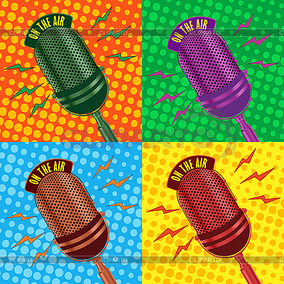 Old vintage microphone background | Stock Vector Graphics |ID 3032385