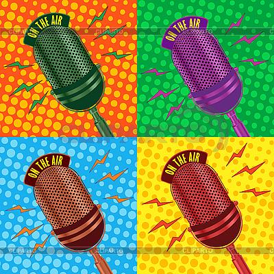 Stare zabytkowe tło mikrofon | Klipart wektorowy |ID 3032385