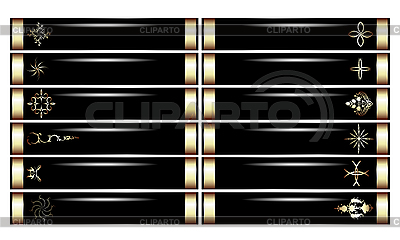 Decorative lux banners | Stock Vector Graphics |ID 3035896