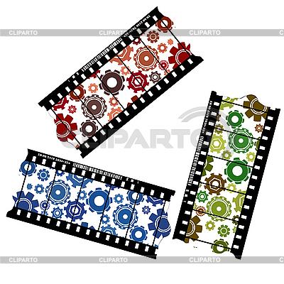 Cogwheels on filmstrip | Stock Vector Graphics |ID 3038381