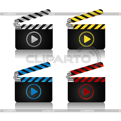 Movie clapper board icons | Stock Vector Graphics |ID 3038963