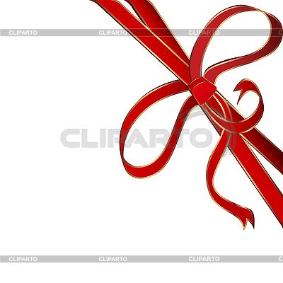 Czerwona wstążka rogu | Klipart wektorowy |ID 3038965
