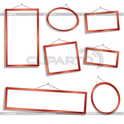 Marcos de madera | Ilustración vectorial de stock |ID 3038973