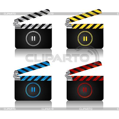 Clapper board set | Stock Vector Graphics |ID 3039063