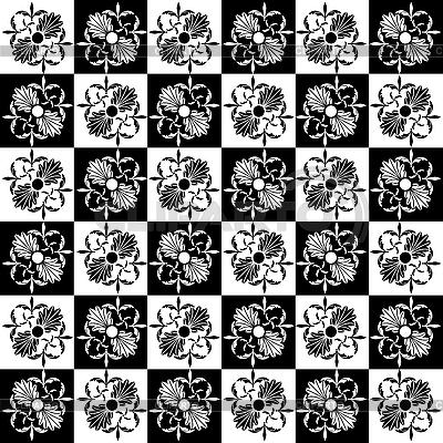新艺术风格的花朵图案 | 向量插图 |ID 3039245