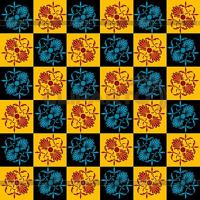 新艺术风格的花无缝模式 | 向量插图 |ID 3039247